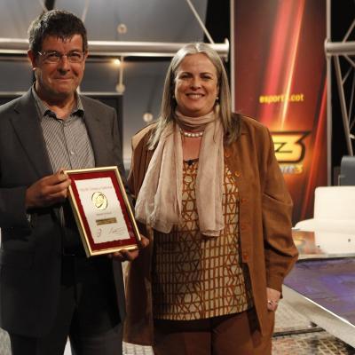 15MARZO2012 Presentación de la Volta Ciclista a Catalunya en los estudios de TV3. Foto: Montse Carreño.