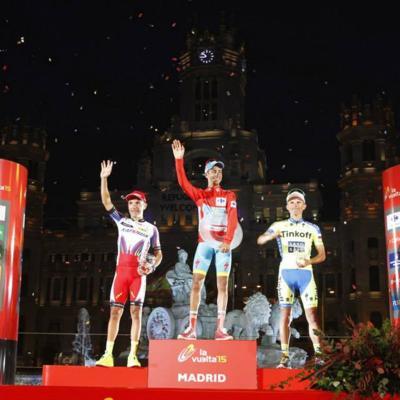 13SEPTIEMBRE2015 La Vuelta para el italiano Fabio Aru. Foto: Facebook
