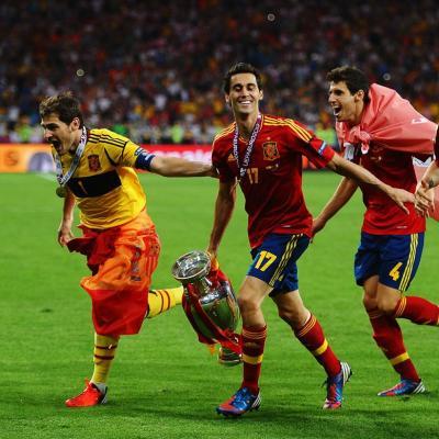 JULIO2012 Eurocopa 2012 para la Selección Española, festejo, Zarzuela y fiestón en la Cibeles: (Photo by Martin Rose/Getty Images)