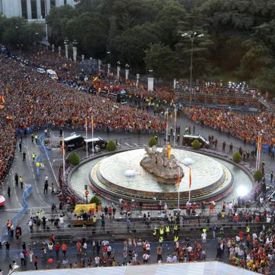JULIO2012 Eurocopa 2012 para la Selección Española, festejo, Zarzuela y fiestón en la Cibeles: Foto: Agencia.