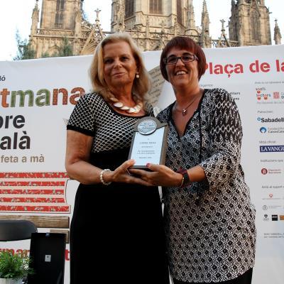 12SEPTIEMBRE2014 Carme Riera, premio Trajectòria.