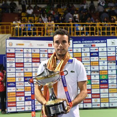 08ENERO2017 Primer torneo del año para Roberto Bautista. Foto: Aircel Chennai Open.