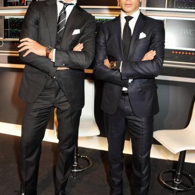 23ENERO2013 Presentación de la nueva colección de la firma de alta joyería IWC, en Ginebra. Rafael Medina y José María Manzanares. Foto: IWC.