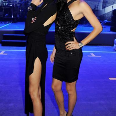 23ENERO2013 Presentación de la nueva colección de la firma de alta joyería IWC, en Ginebra. Karolina Kurkova y Adriana Lima. Foto: IWC.
