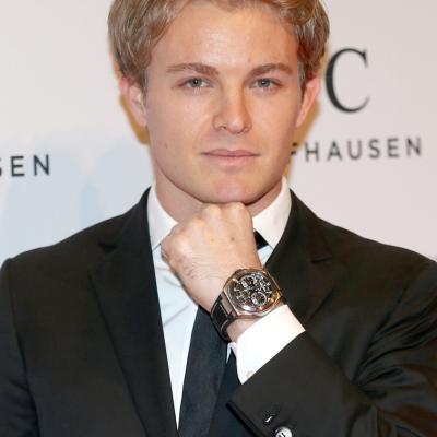 23ENERO2013 Presentación de la nueva colección de la firma de alta joyería IWC, en Ginebra. Nico Rosberg, piloto.Foto: IWC.
