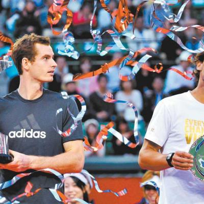 09OCTUBRE2011 Torneo de Tokio, ganado por Andy Murray a Rafa Nadal por 3-6,6-2,6-0. Foto: Agencias.