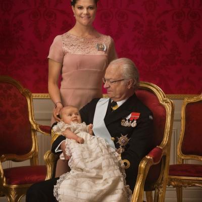 22MAYO2012 Bautizo de la princesa Estelle de Suecia. Foto: Agencia.