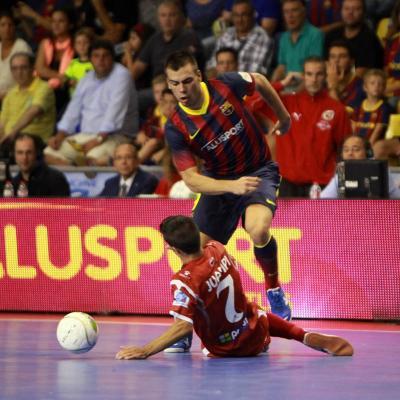 10SEPTIEMBRE2013 El Barça Alusport se alza con la Supercopa, el único título que les faltaba. Foto: Ricard Rovira.