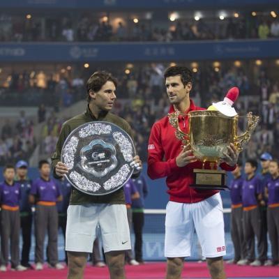 06OCTUBRE2013 Torneo de Beijing, ganador Djokovic, finalista Nadal y vuelta al número 1 de la ATP. Foto: TenisWeb.