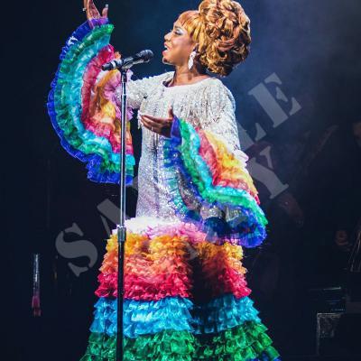 ENERO2018 Lucrecia se convierte en Celia Cruz en Miami. Foto: Cortesía Lucrecia.