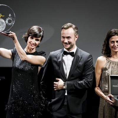 SEPTIEMBRE2017 Paz Vega recibe el premio Jaeger-LeCoultre en San Sebastián  al Cine Latino. Foto:  Juan Naharro / Getty Images for Jaeger-LeCoultre.