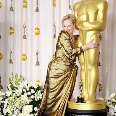 26FEBRERO2012 Alfombra roja de los Oscars de Hollywood 2012. Meryl Streep. Foto: Agencia.