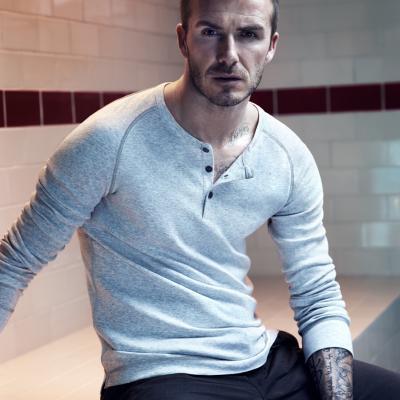 21AGOSTO2013 David Beckham con la nueva colección de H&M. Foto: H&M.