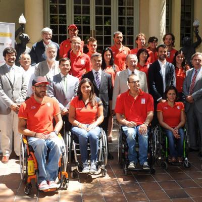 21JUNIO2012 Fotografía de los deportistas paralimpicos catalanes de Londres 2012. Foto: Jordi Estruch.