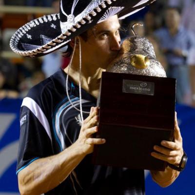 04MARZO2012 David Ferrer derrotó a su compatriota, Fernando Verdasco en la final del Torneo de Acapulco. David Ferrer. Foto: Abierto México.