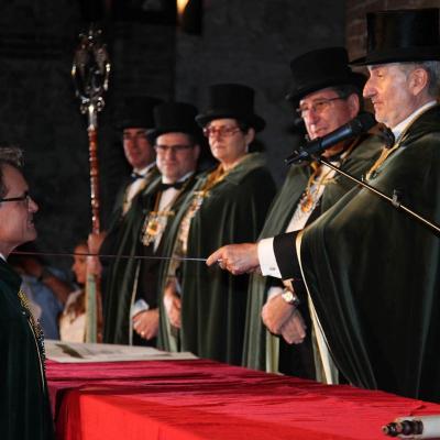 13OCTUBRE2011 Investidura a Artur Mas, como Cofrade de Honor de la Cofradía del Cava. Foto: gencat.