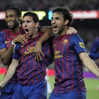 17AGOSTO2011 El FCBarcelona  ganaron de la Supercopa. Foto: Agencias.