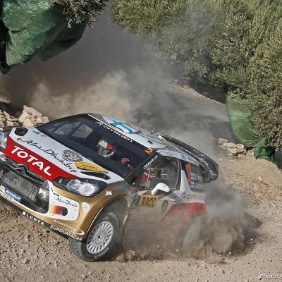 27OCTUBRE2013 Ogier campeón del Rally RACC y del Mundial.  Hirvonen.