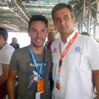 27OCTUBRE2013 Ogier campeón del Rally RACC y del Mundial.  Joaquim Rodríguez y Luis  Moya.