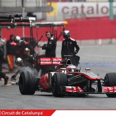 28AL03MA2013 Formula One Test Days en el Circuito de Catalunya. Button. Foto: Circuito de Montmeló.