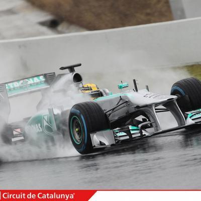 28AL03MA2013 Formula One Test Days en el Circuito de Catalunya. Hamilton. Foto: Circuito de Montmeló.