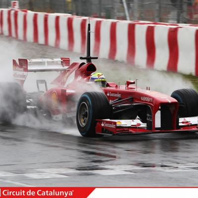 28AL03MA2013 Formula One Test Days en el Circuito de Catalunya. Massa. Foto: Circuito de Montmeló.