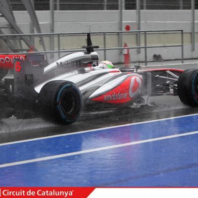 28AL03MA2013 Formula One Test Days en el Circuito de Catalunya. Pérez. Foto: Circuito de Montmeló.