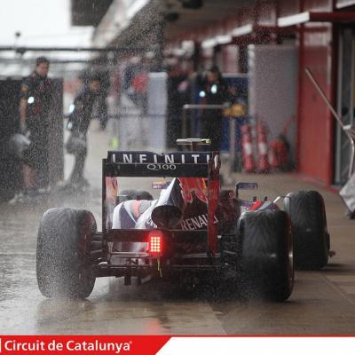 28AL03MA2013 Formula One Test Days en el Circuito de Catalunya. Webber. Foto: Circuito de Montmeló.