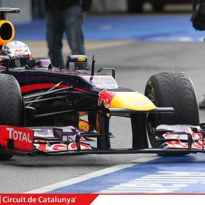 28AL03MA2013 Formula One Test Days en el Circuito de Catalunya. Vettel. Foto: Circuito de Montmeló.