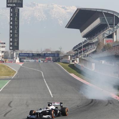 28AL03MA2013 Formula One Test Days en el Circuito de Catalunya. Maldonado. Foto: Circuito de Montmeló.