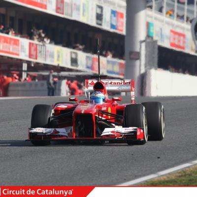 28AL03MA2013 Formula One Test Days en el Circuito de Catalunya. Alonso.  Foto: Circuito de Montmeló.