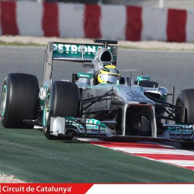 28AL03MA2013 Formula One Test Days en el Circuito de Catalunya. Rosberg. Foto: Circuito de Montmeló.