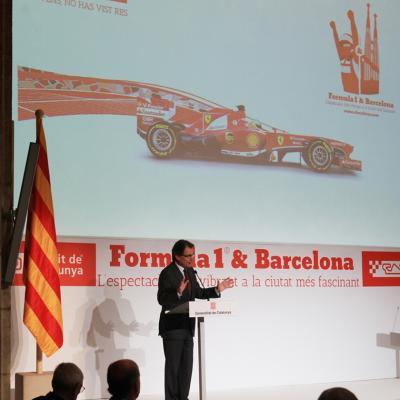 29ABRIL2013 Presentación del Formula 1 Gran premio de España 2013. Artur Mas. Foto: Circuit de Catalunya.