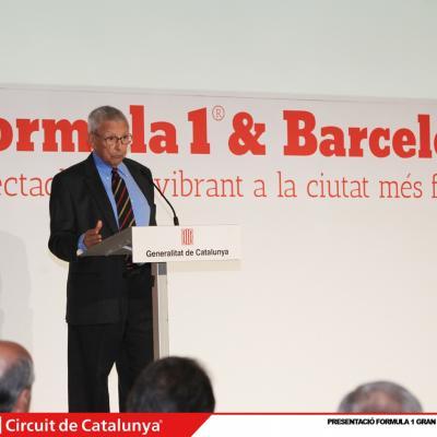 29ABRIL2013 Presentación del Formula 1 Gran premio de España 2013. Sebastià Salvadó.Foto: Circuit de Catalunya.