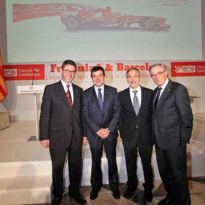 29ABRIL2013 Presentación del Formula 1 Gran premio de España 2013. Foto: Circuit de Catalunya.
