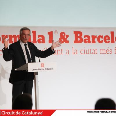 29ABRIL2013 Presentación del Formula 1 Gran premio de España 2013. Xavier Trias. Foto: Circuit de Catalunya.