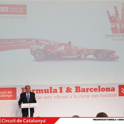 29ABRIL2013 Presentación del Formula 1 Gran premio de España 2013. Vicenç Aguilera. Foto: Circuit de Catalunya.