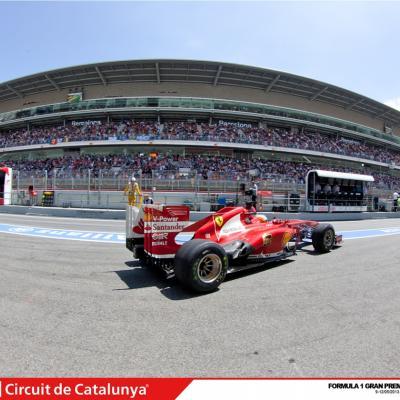 12MAYO2013 Victoria de Fernando Alonso en el Gran Premio de España 2013 de F1. Foto: Circuit de Catalunya.