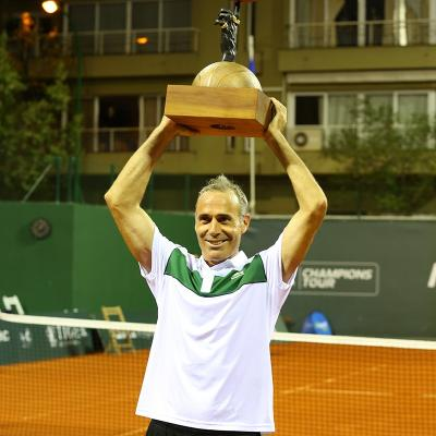 11OCTUBRE2015 Àlex Corretja, ganador de la primera Legends Cup de Mallorca. Foto: Organización.