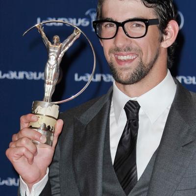11MARZO2013 Premios Laureus al Deporte, en Río de Janeiro.Michael Phelps.  Foto: Getty Images