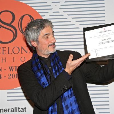 31ENERO2014 Josep Abril ganador de la edición decimotercera de la 080 Barcelona Fashion. Foto: Organización.