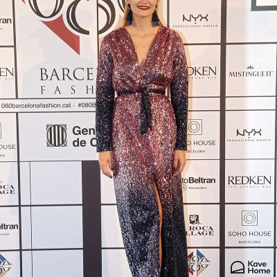 31ENERO2018 Alba Carrillo volvió a desfilar para Lola Casademunt. Foto: 080 Barcelona Fashion.