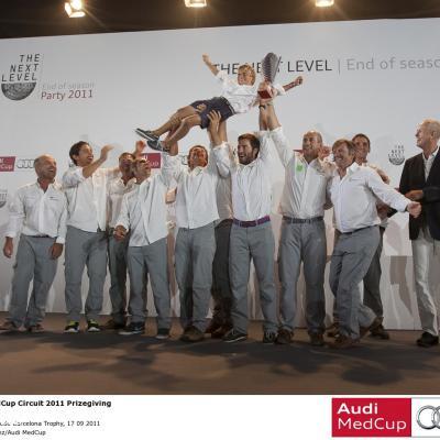 SETIEMBRE2011 Imágenes de la regata la Audi MedCup que finalizó en Barcelona con el Trofeo Conde de Godó-Ciudad de Barcelona 2011. Foto: Audi MedCup.