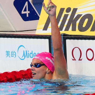 02AGOSTO2013 El waterpolo femenino gana el oro. Yuliya Efimova. Foto: BCN2013.