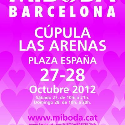 12JULIO2012 Salón MiBoda, que se celebrará los días 27 y 28 de Octubre, en La Cúpula de las Arenas de Barcelona. Cartel.  Foto: Flaqué Internacional.