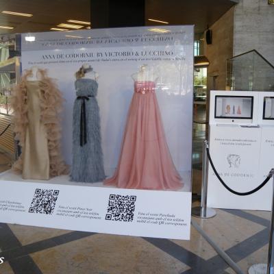 14SETIEMBRE2011 Presentación de los tres diseños creados por Victorio & Lucchino para la modelo que lucirá uno de ellos, en el spot de Navidad de la firma catalana Anna de Codorníu. Foto: Montse Carreño.