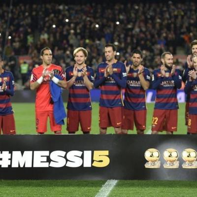 11ENERO2016 Messi vuelve a tener el Balón de Oro, el quinto. Foto: Agencia.