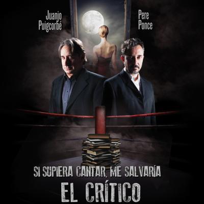 21ENERO2014 Escena de la obra 'Si supiera cantar, me salvaría. El crítico', con Juanjo Puigcorbé y Pere Ponce.
