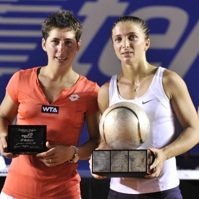03MARZO2013 Torneo de Acapulco, triunfo de Rafa Nadal. Carla Suárez (i) finalista en la final. Foto: Abierto México de tenis.
