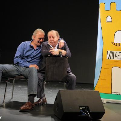07ABRIL2016 Bertín Osborne y Paco Arévalo en el Borràs. Foto: Montse Carreño.